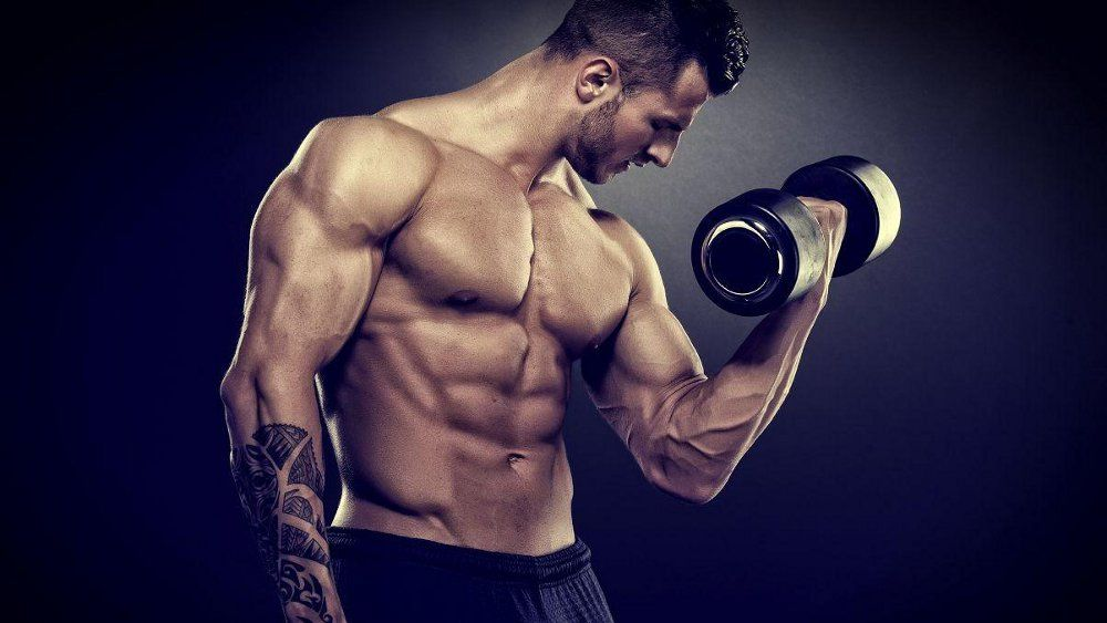 How to pump dumbbells triceps