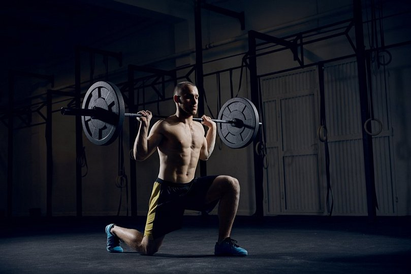 Crossfit home training: exercises of different difficulty levels