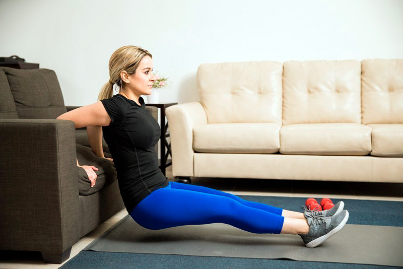 exercises in front of the TV