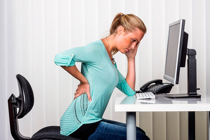 back pain when sitting