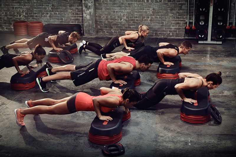 Body Pump in the hall