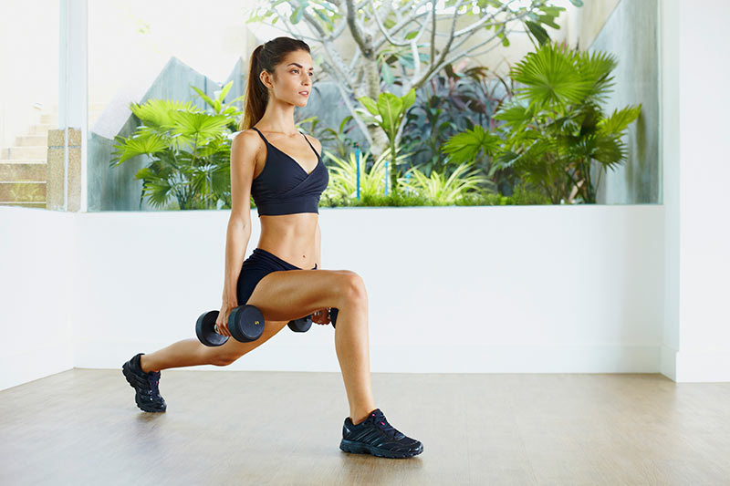 Weighted lunges forward