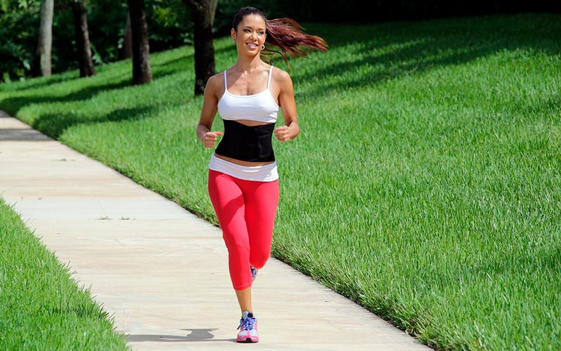 running with a belt for weight loss