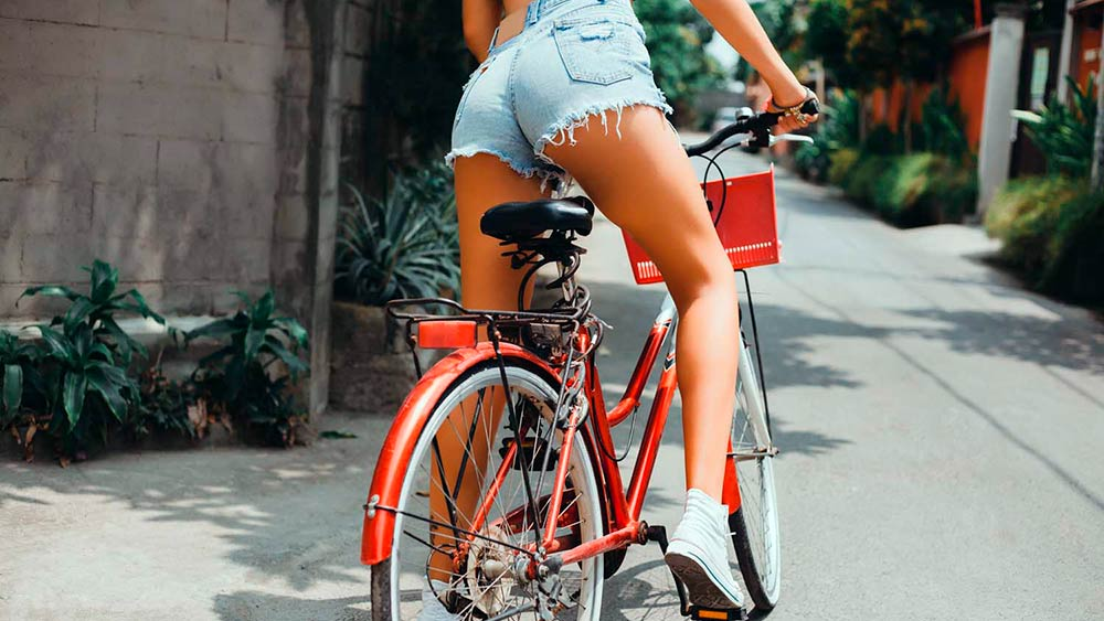 a ride on the bicycle