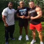 Dexter Jackson training with Mike Tyson